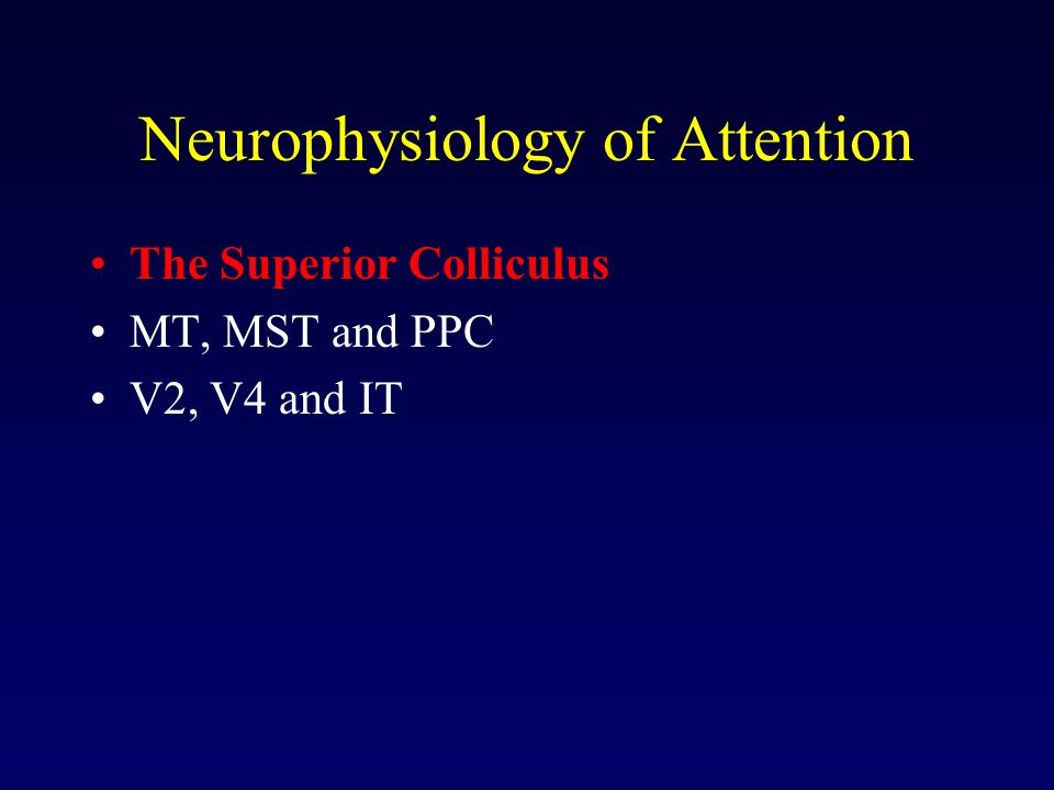 Neurophysiology of Attention