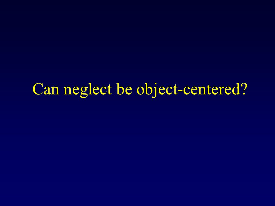 Can neglect be object-centered