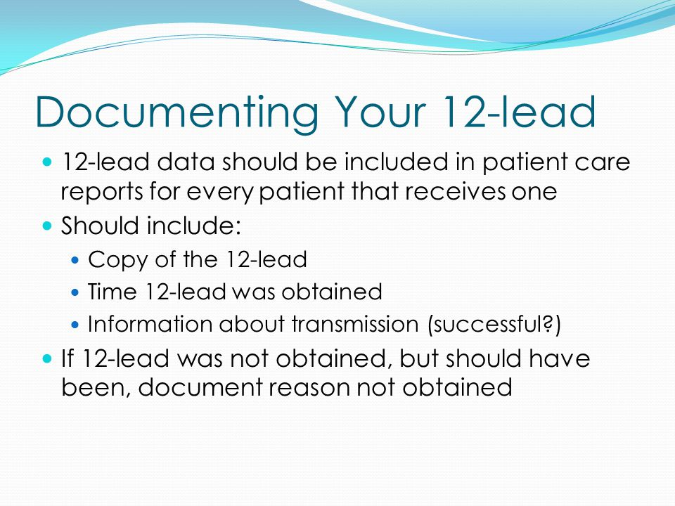 Documenting Your 12-lead