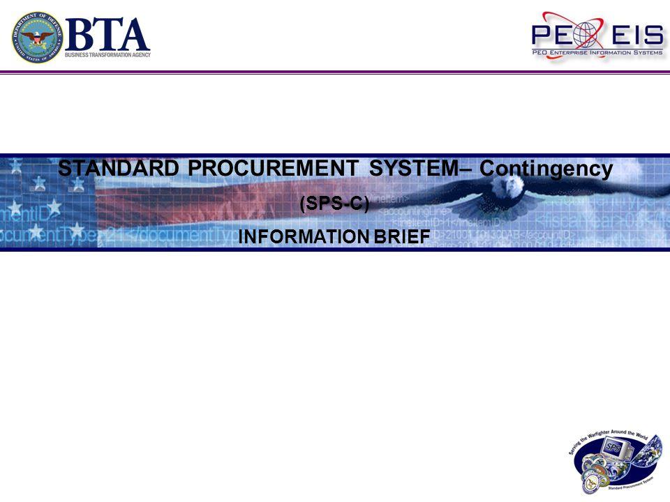 STANDARD PROCUREMENT SYSTEM– Contingency