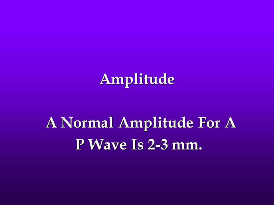 A Normal Amplitude For A