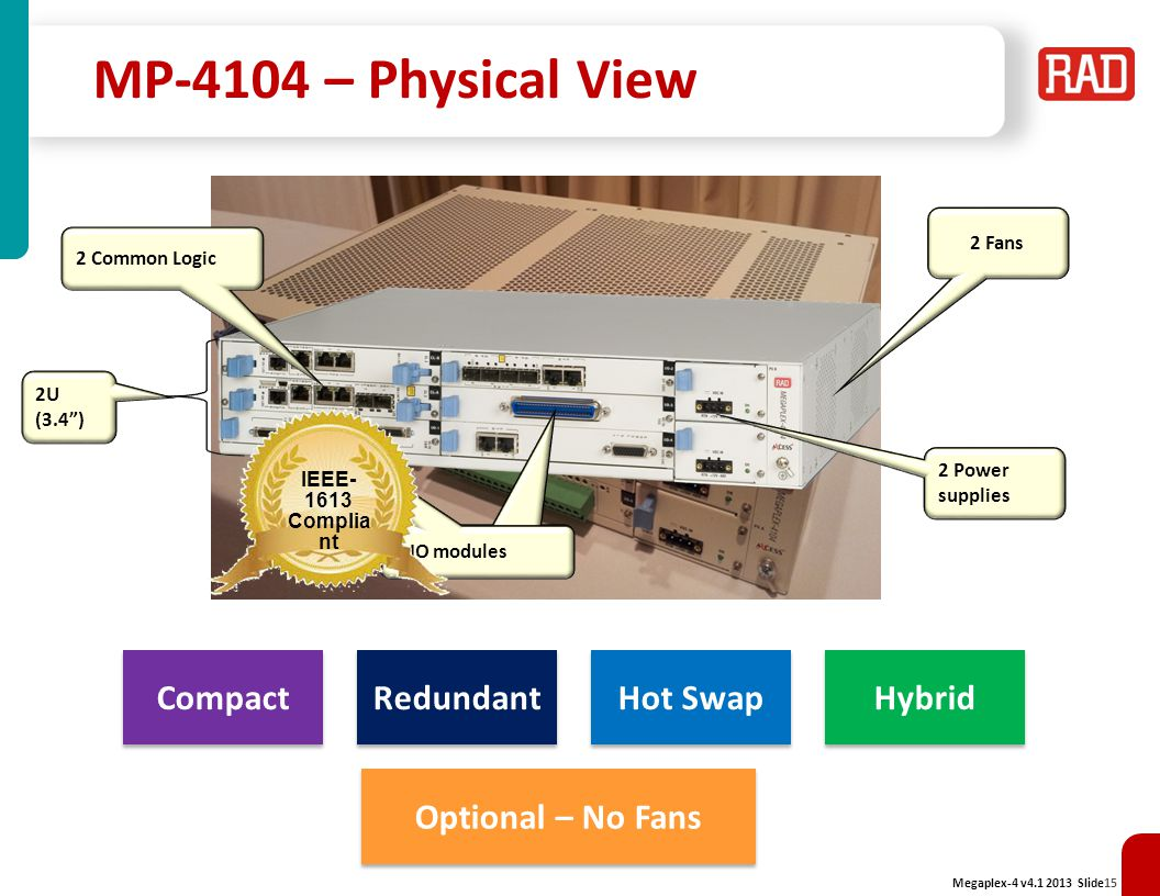 MP-4104 – Physical View Compact Redundant Hot Swap Hybrid