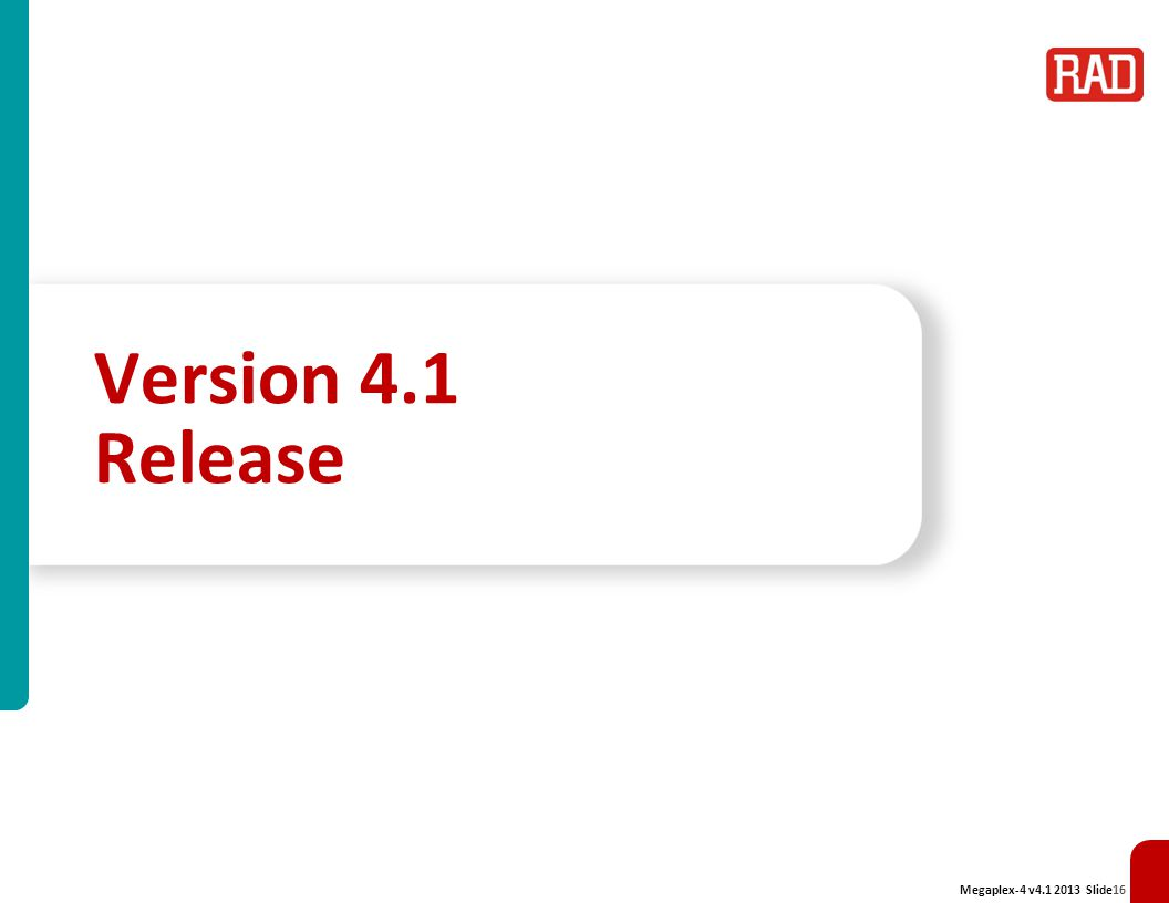 Version 4.1 Release