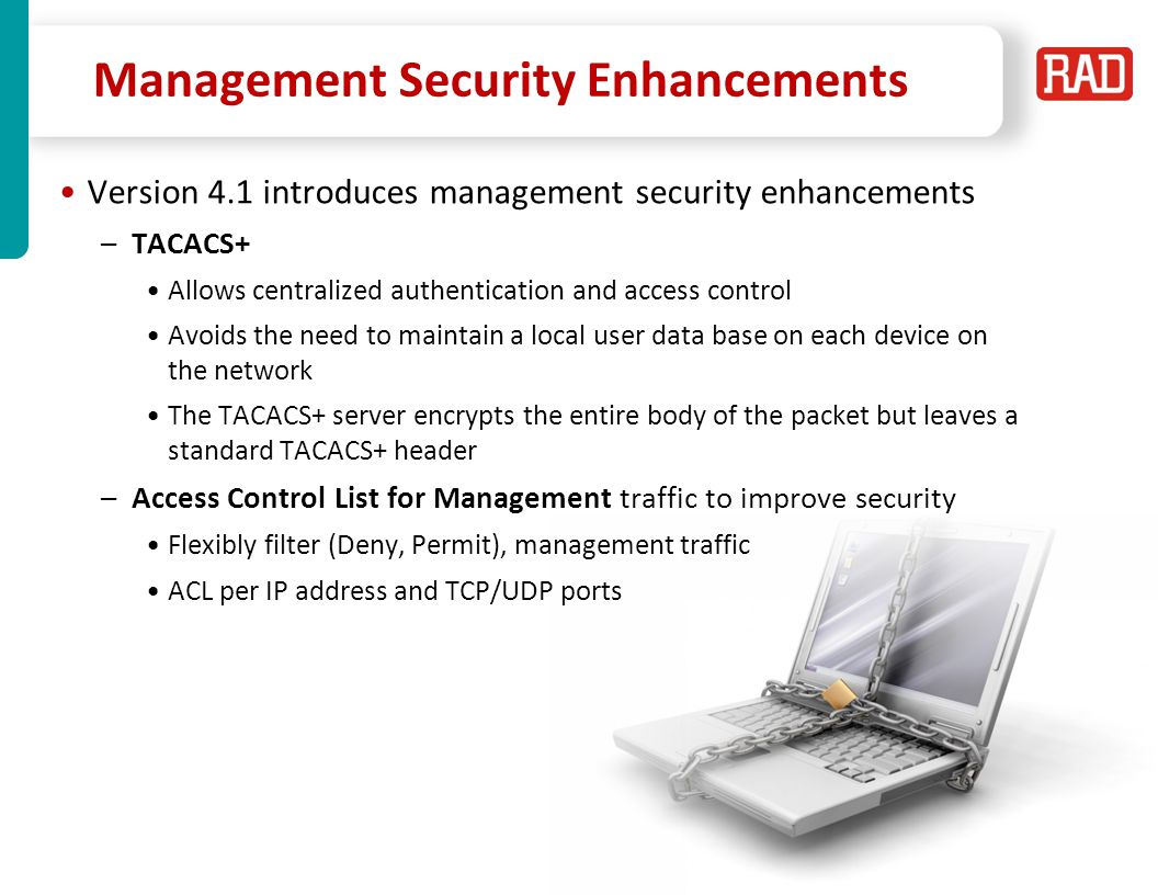 Management Security Enhancements