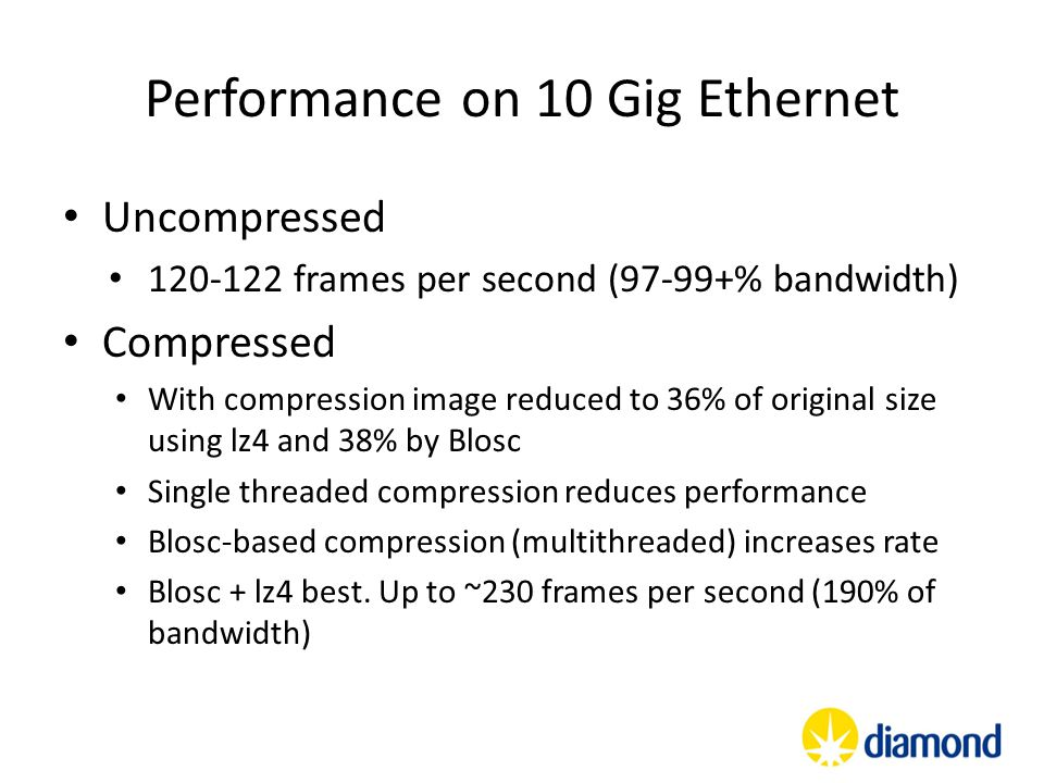 Performance on 10 Gig Ethernet