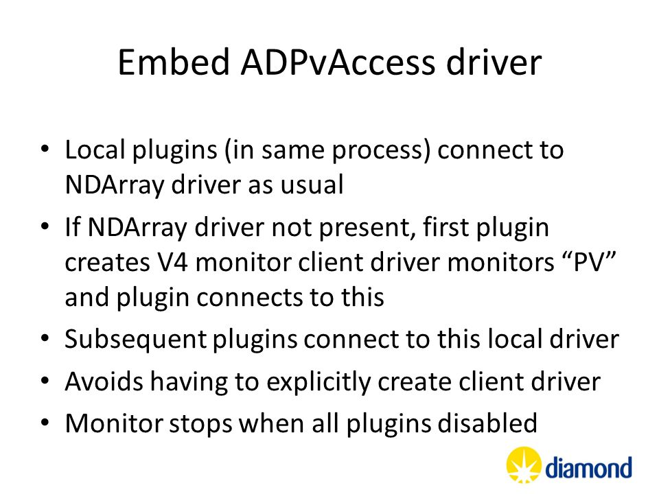 Embed ADPvAccess driver