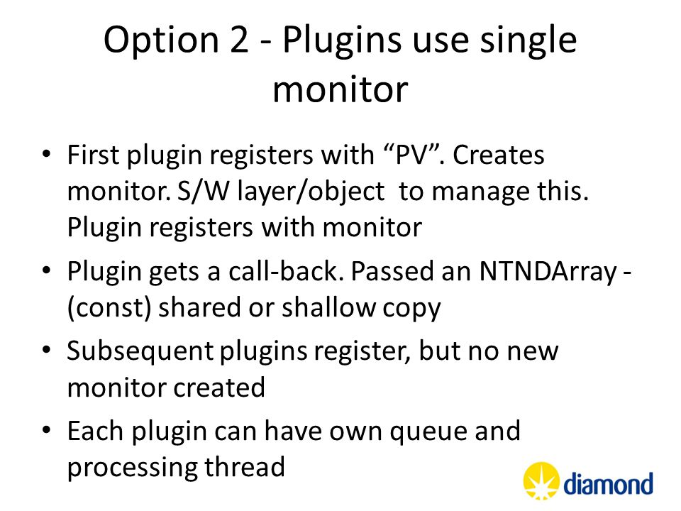 Option 2 - Plugins use single monitor