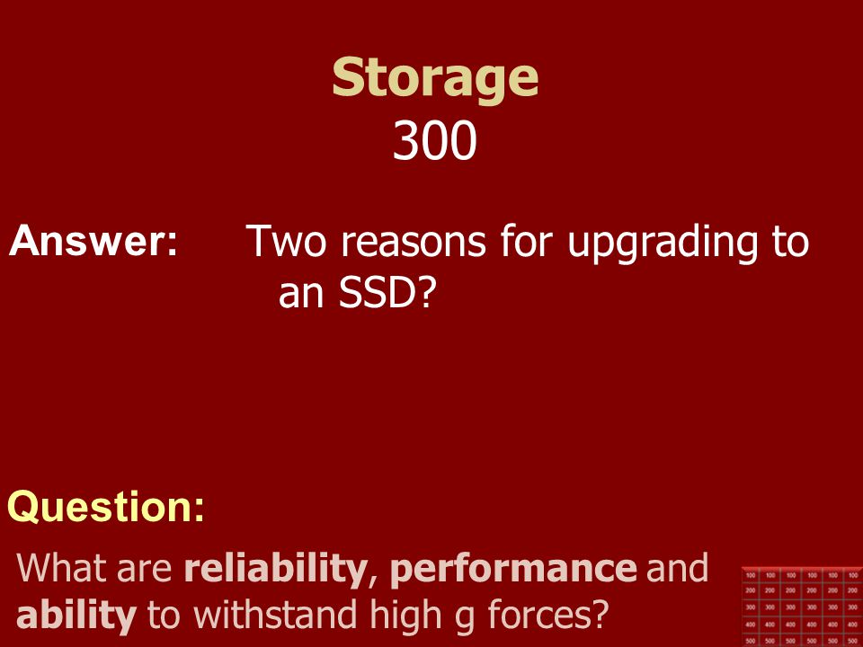 Storage 300 Two reasons for upgrading to an SSD