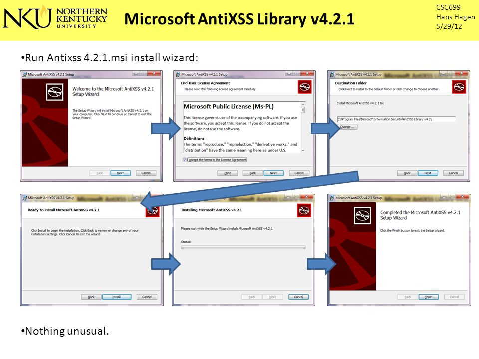 Microsoft AntiXSS Library v4.2.1