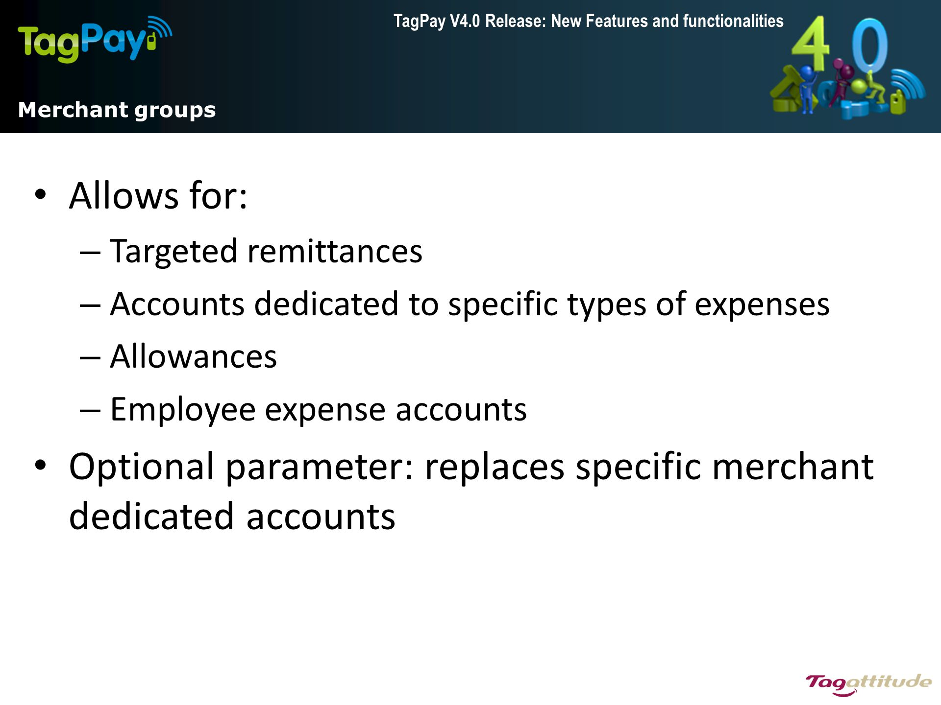 Optional parameter: replaces specific merchant dedicated accounts