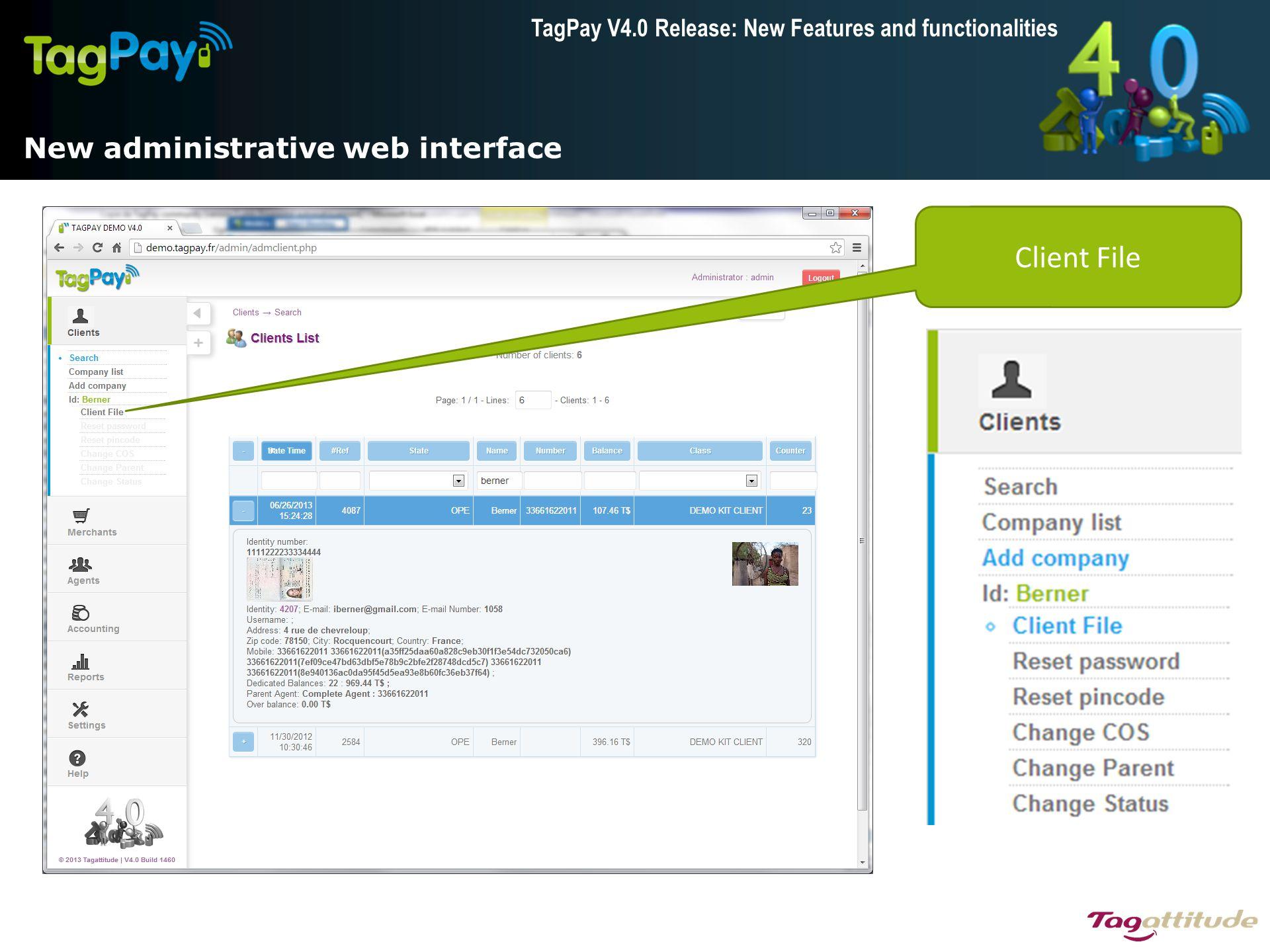 New administrative web interface