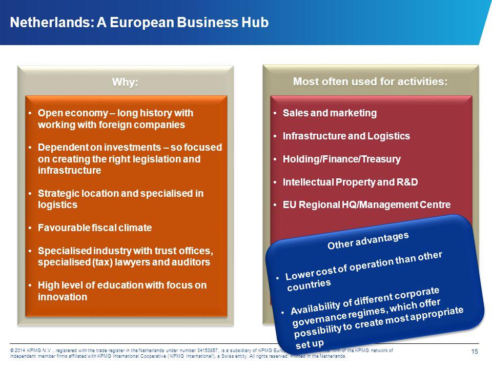 Netherlands: A European Business Hub – further information