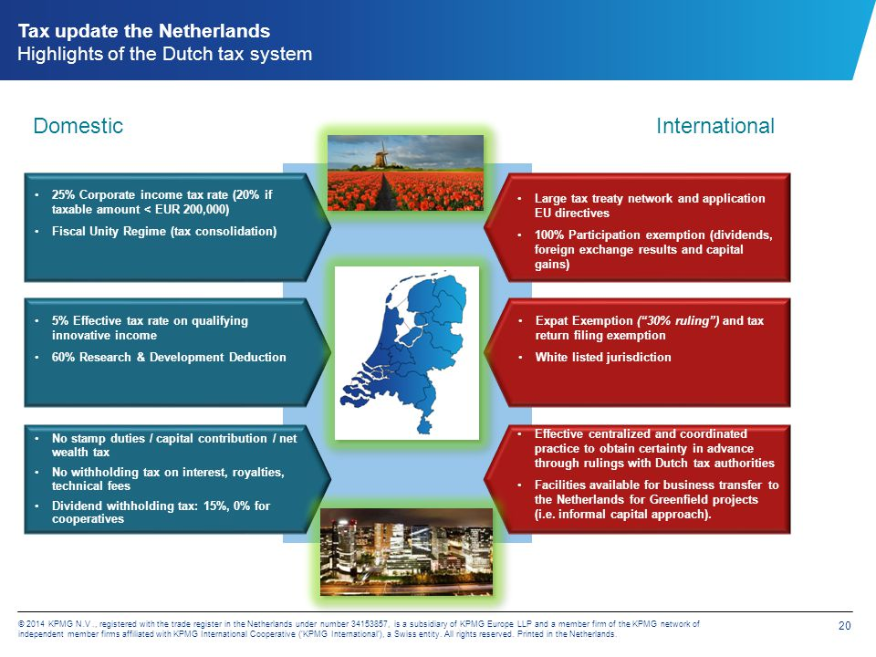Tax update the Netherlands Also a competitive legal edge …