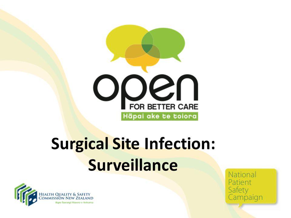 Surgical Site Infection: Surveillance