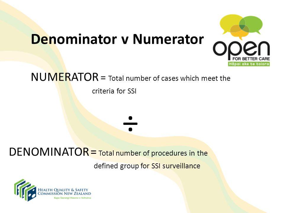 Denominator v Numerator