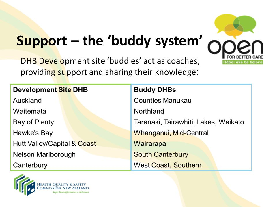 Support – the 'buddy system'