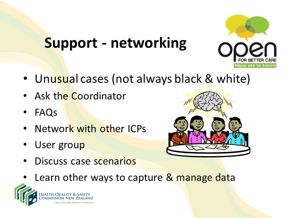 Support - networking Unusual cases (not always black & white)