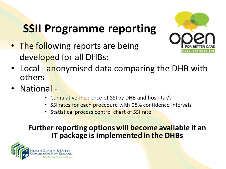 SSII Programme reporting