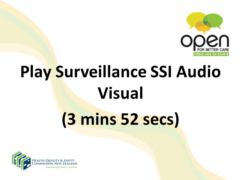 Play Surveillance SSI Audio Visual
