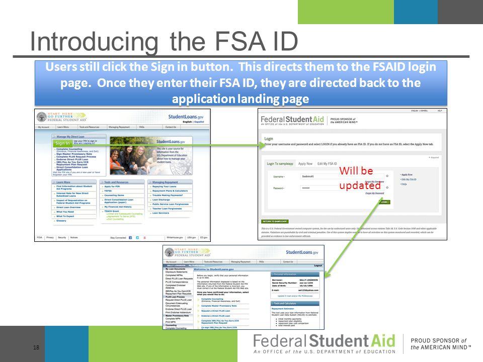 Introducing the FSA ID