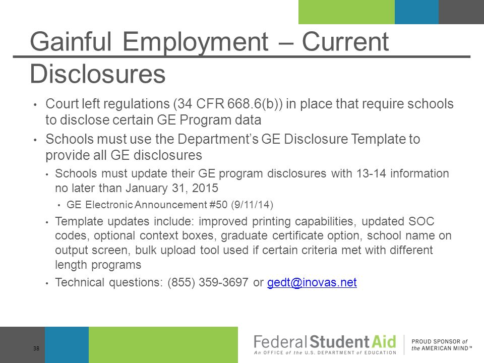 Gainful Employment – Current Disclosures