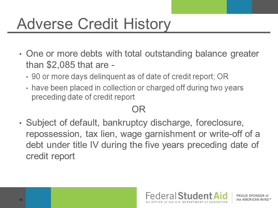 Adverse Credit History
