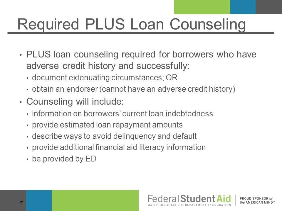 Required PLUS Loan Counseling