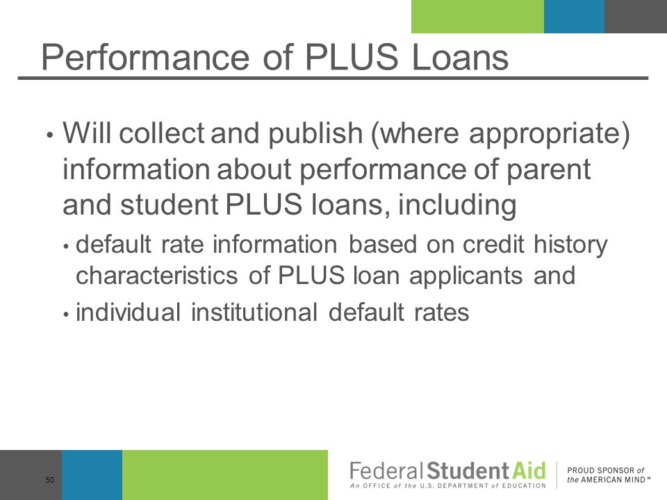 Performance of PLUS Loans