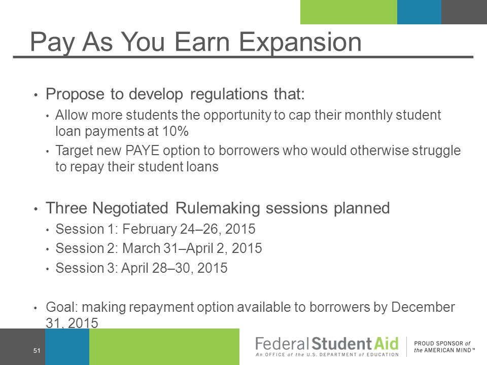 Pay As You Earn Expansion