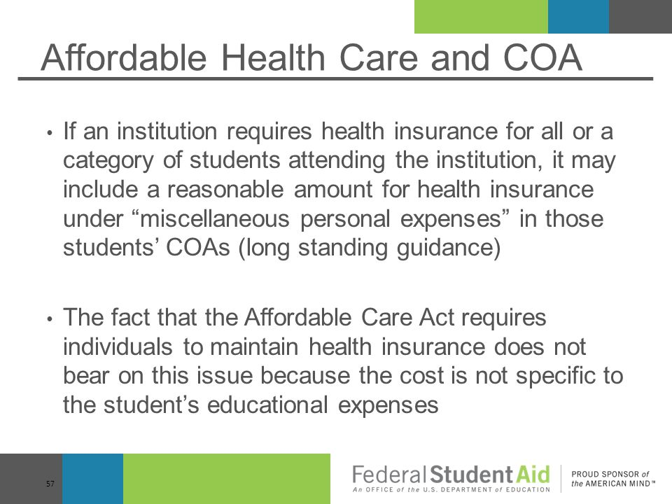 Affordable Health Care and COA