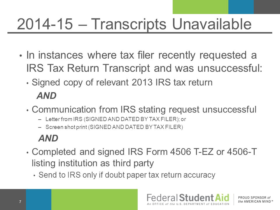 2014-15 – Transcripts Unavailable