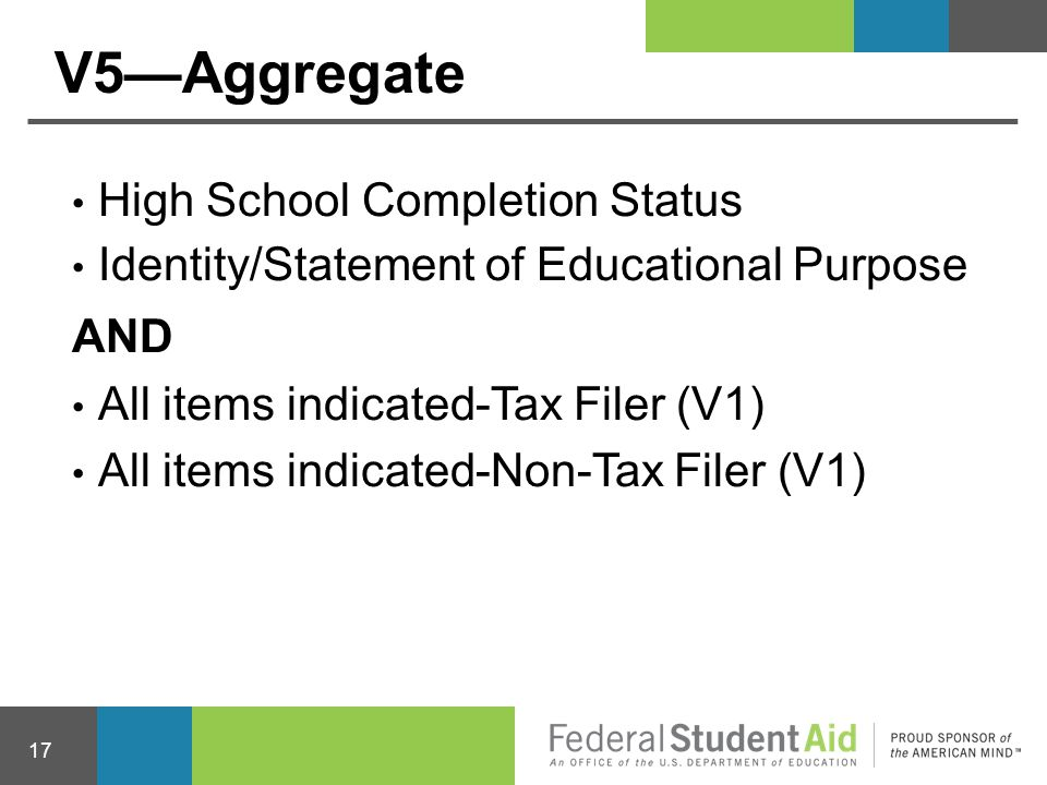 V5—Aggregate High School Completion Status