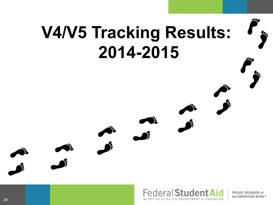 V4/V5 Tracking Results: 2014-2015