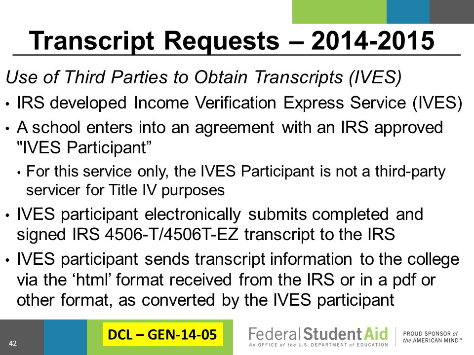 Transcript Requests – 2014-2015