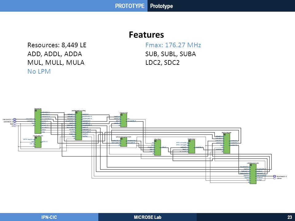 Features Resources: 8,449 LE Fmax: 176.27 MHz