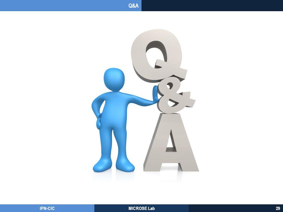 Q&A IPN-CIC MICROSE Lab 29