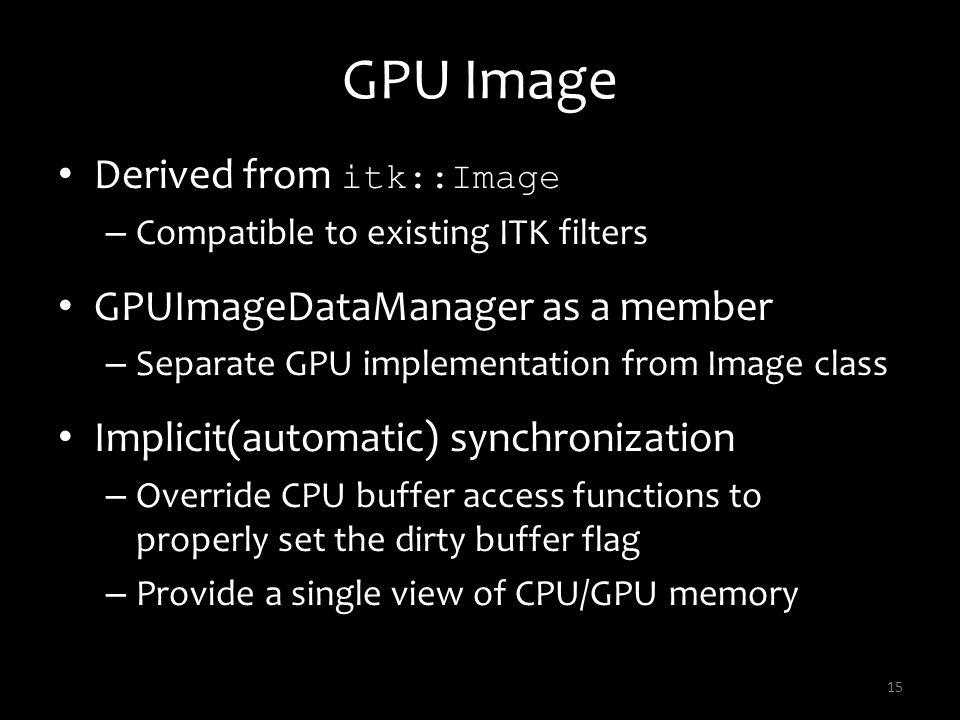 GPU Image Derived from itk::Image GPUImageDataManager as a member