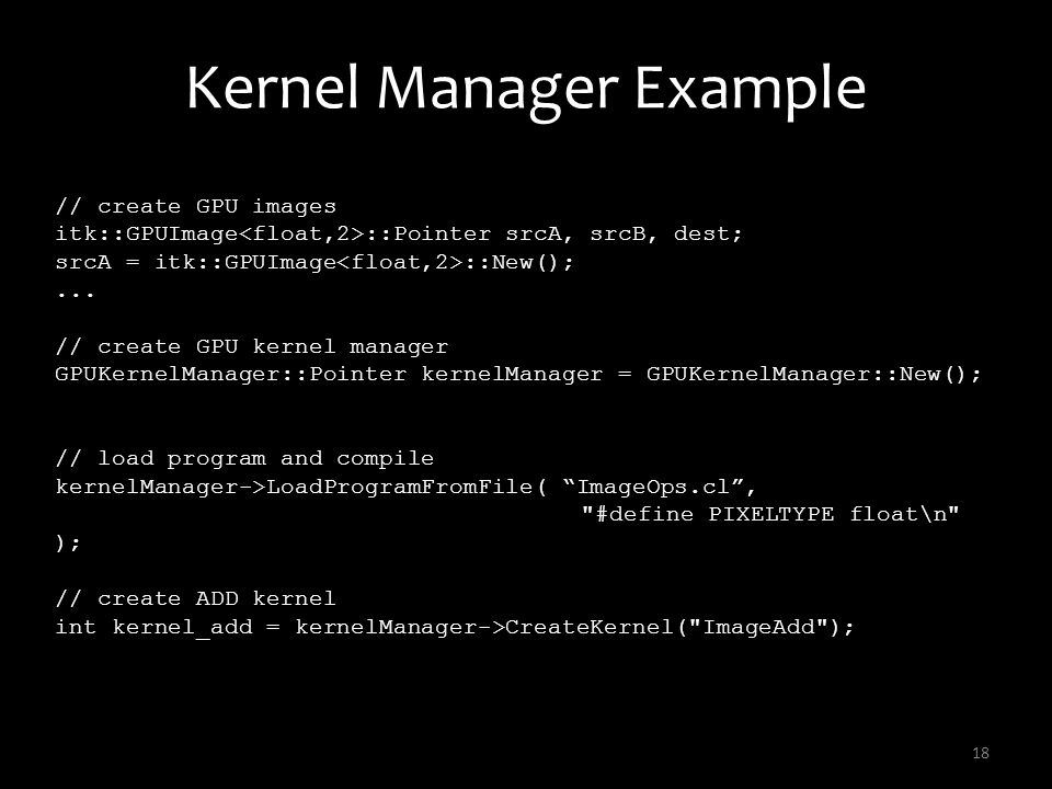 Kernel Manager Example