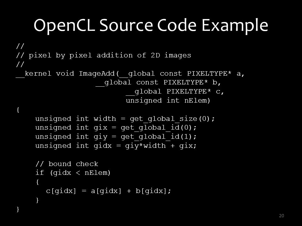 OpenCL Source Code Example