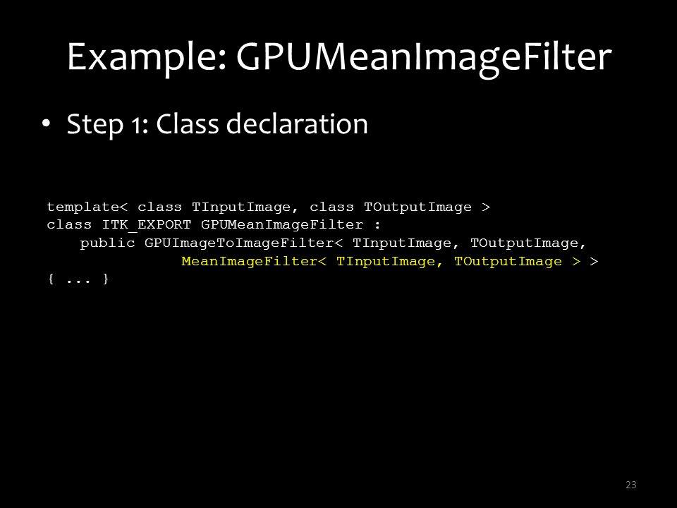 Example: GPUMeanImageFilter