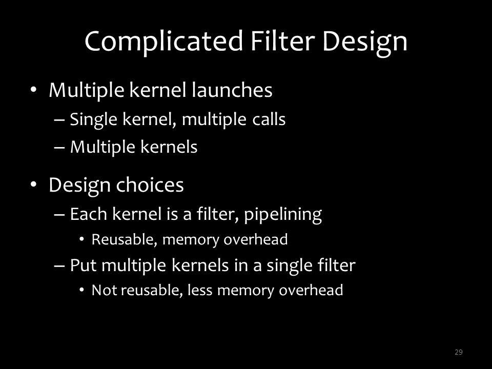 Complicated Filter Design