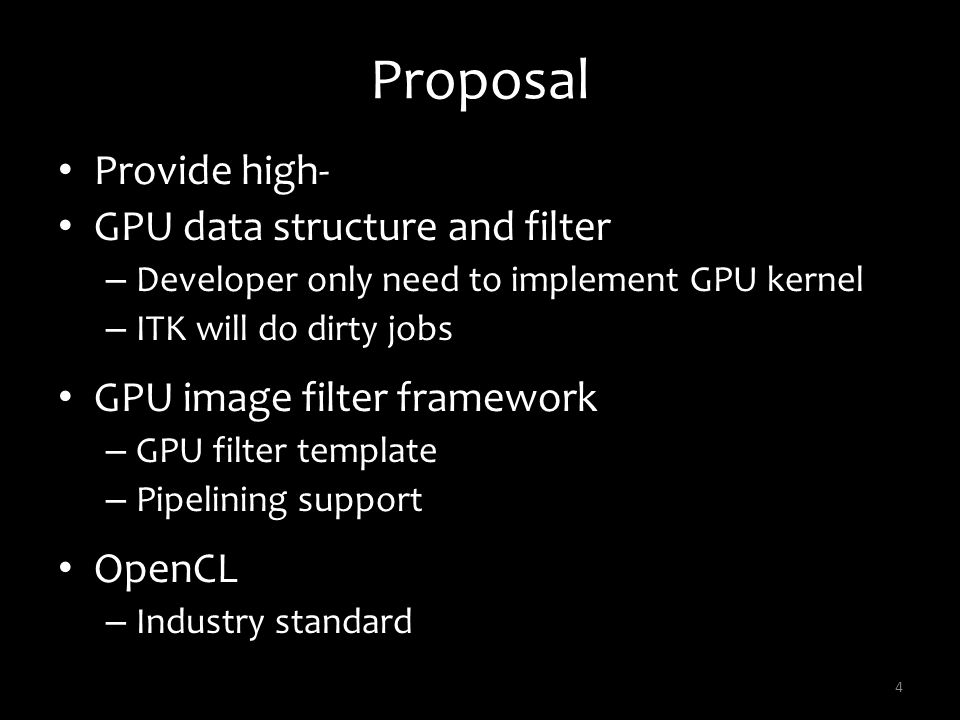Proposal Provide high- GPU data structure and filter