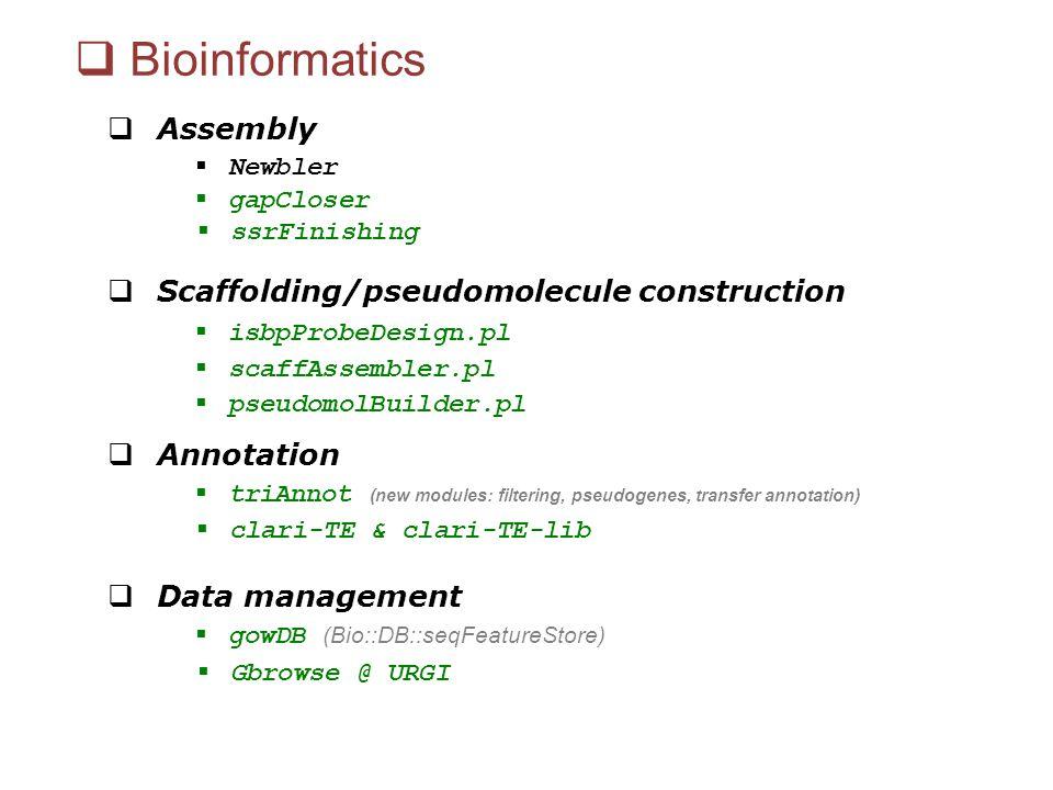 Bioinformatics Assembly Scaffolding/pseudomolecule construction