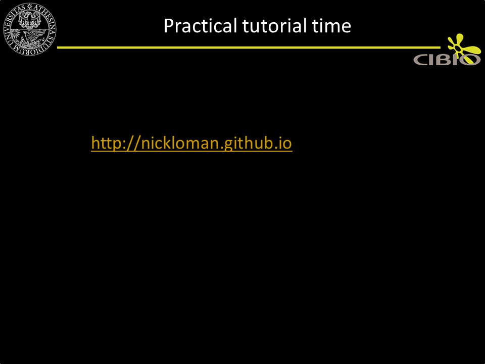 Practical tutorial time