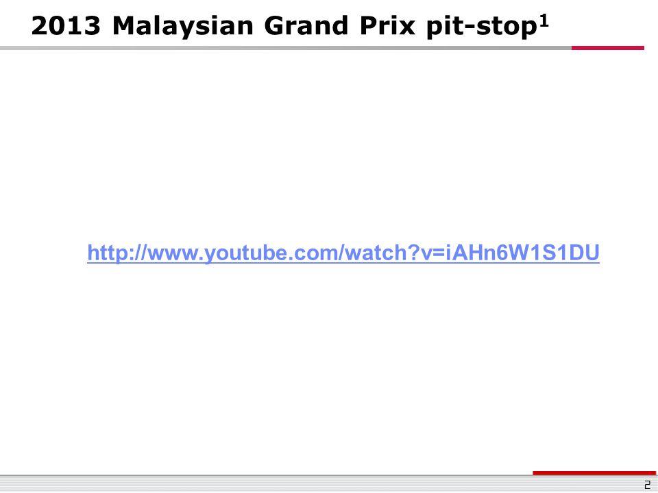 2013 Malaysian Grand Prix pit-stop1
