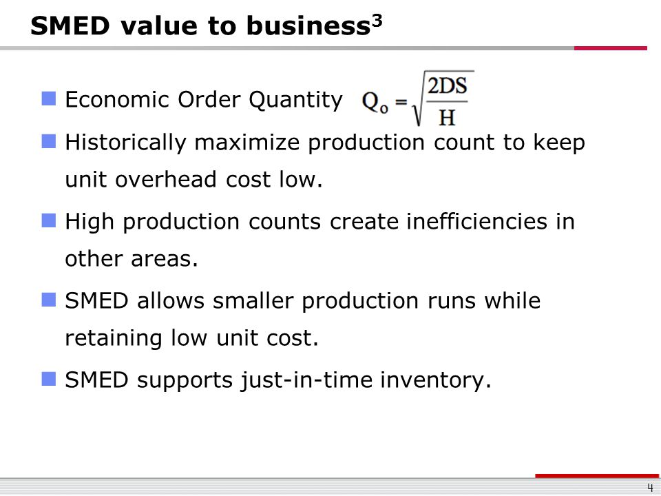 SMED value to business3 Economic Order Quantity