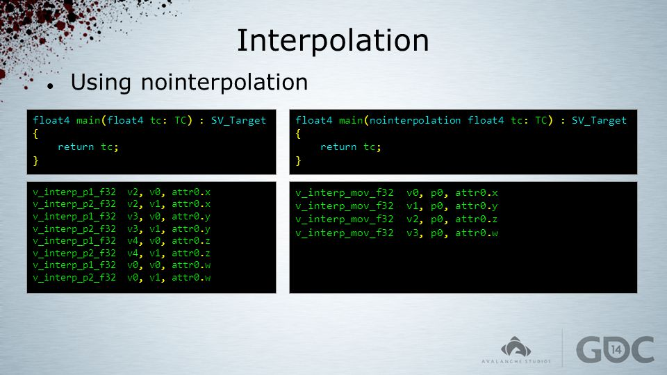Interpolation Using nointerpolation