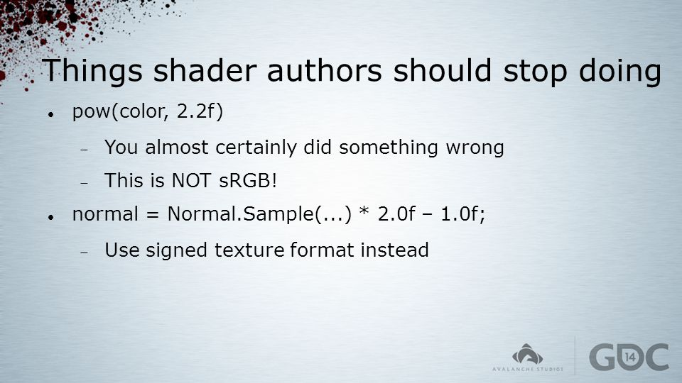Things shader authors should stop doing