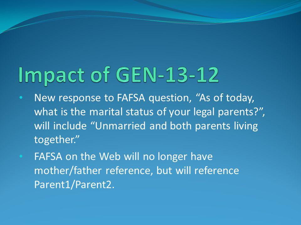 Impact of GEN-13-12