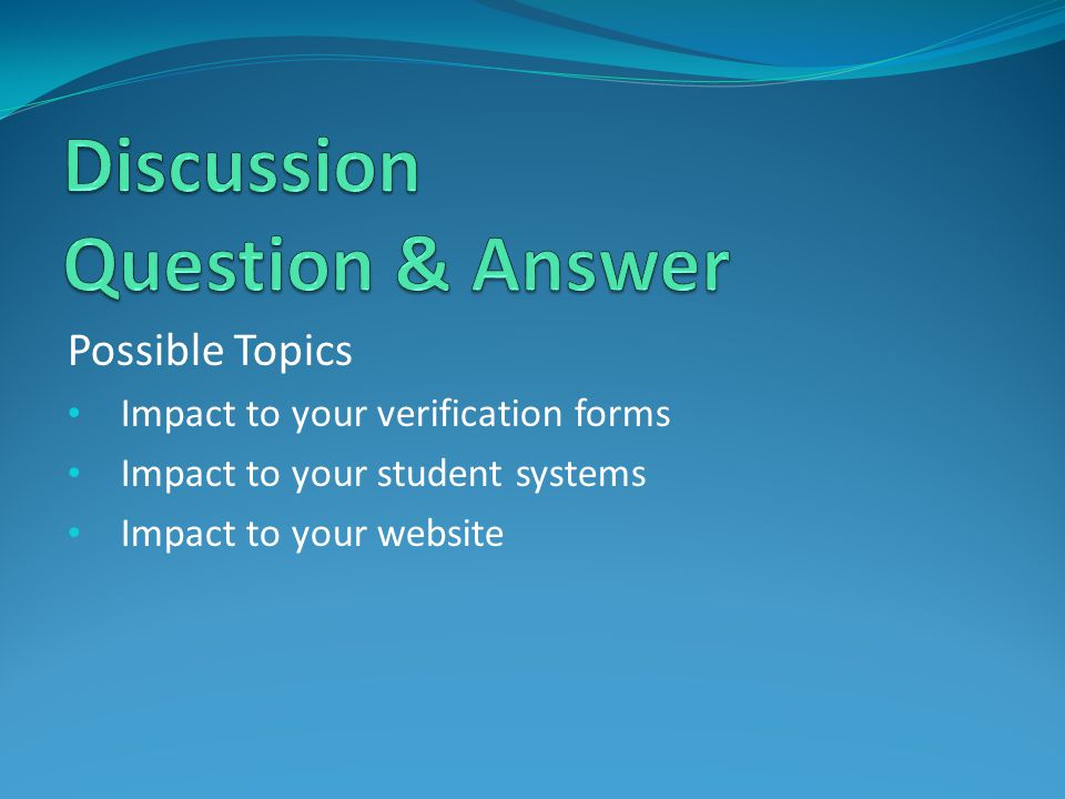 Discussion Question & Answer